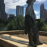 Photo taken at Stevie Ray Vaughan Statue by TeaBelly on 6/4/2017