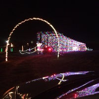 hollywild christmas lights safari exhibit in inman