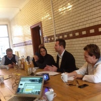 Photo taken at Wostel - Coworking & more by Espen S. on 10/13/2014