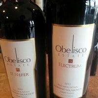 Photo taken at Obelisco Winery by Alex E. on 3/16/2014