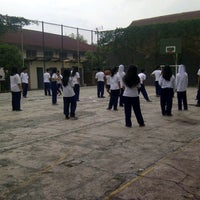 Photo taken at SMA Labschool UPI by Arief R. on 5/13/2013