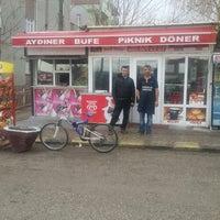 Photo taken at Aydıner büfe by Özgür T. on 1/26/2014