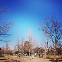 Photo taken at Toneri Park by takamasa i. on 2/10/2013