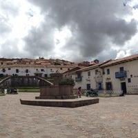 Photo taken at Plaza de San Blas by FJ A. on 2/24/2013