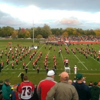 Photo taken at st.johns high school football field by Mike Z. on 10/3/2014