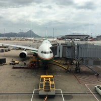 Photo taken at BR870 HKG-TPE / EVA Airways by Isaac L. on 7/1/2014