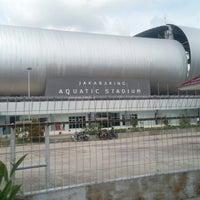 Photo taken at Jakabaring Aquatic Stadium by M. Ramadhan A. on 7/8/2013