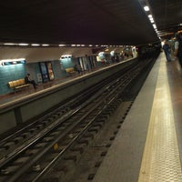 Photo taken at Metro Alvalade [VD] by Ruy Miguel S. on 10/18/2013