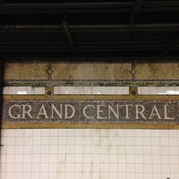 Photo taken at MTA Subway - 42nd St/Grand Central (4/5/6/7/S) by Masashi S. on 4/23/2013