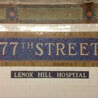 Photo taken at MTA Subway - 77th St (6) by Masashi S. on 4/20/2013