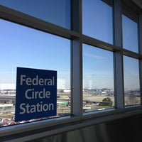 Photo taken at JFK AirTrain - Federal Circle Station by Masashi S. on 4/25/2013