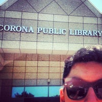 Photo taken at Corona Public Library by Irving R. on 6/17/2013