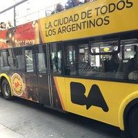 Photo taken at Buenos Aires Bus - Stop 0: Diagonal Norte by Thiago S. on 9/3/2016