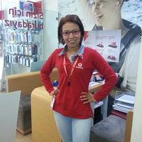 Photo taken at manisa vodafone by TC Yeliz C. on 3/17/2014