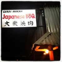Photo taken at Gerai Makanan Japanese BBQ by Audrey Q. on 11/10/2012
