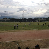 Photo taken at Unidad Deportiva Talaverna by Abraham P. on 7/9/2013