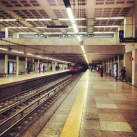 Photo taken at Metro Marquês de Pombal [AM,AZ] by Ricardo F. on 11/26/2012