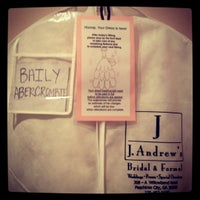 Photo taken at J Andrews Bridal by Bailey R. on 7/19/2012