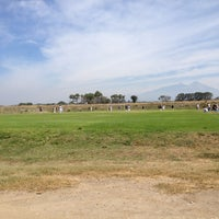Photo taken at Canchas de Futbol del Chical by Faby A. on 2/24/2013
