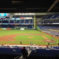 Photo taken at Marlins Park by Jimmy E. on 4/15/2013