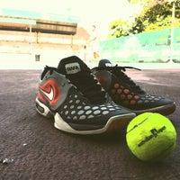 Photo taken at Gelanggang Tennis Tasik Titiwangsa by Haini Eszuandi H. on 1/19/2014