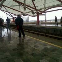Photo taken at Metrorrey (Estación San Nicolás) by Daniel S. on 5/12/2013