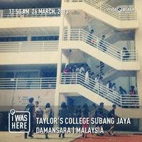 Photo taken at Taylor's College Subang Jaya by Lee M. on 3/26/2013