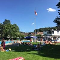 Photo taken at Gartenbad Bottmingen by Alex R. on 8/22/2015