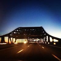 Photo taken at Piscataqua River Bridge by Jeffrey R. on 11/4/2012