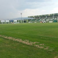 Photo taken at Estadio Municipal La Albuera by Adrian N. on 7/20/2013