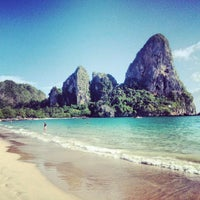 Photo taken at Railay Beach West by You H. on 5/2/2013