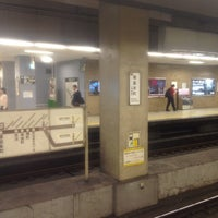 Photo taken at Sakaisuji-Hommachi Station by EGO MEET-US on 6/4/2014