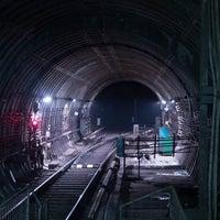 Photo taken at Зупинка «Станція метро «Дорогожичі» by Black J. on 10/14/2014