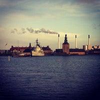 Photo taken at Larsens Pølser by Nat F. on 1/4/2014