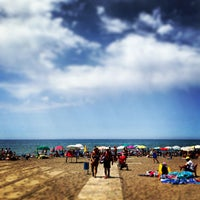 Photo taken at Etruria beach by Peter H. on 8/4/2013