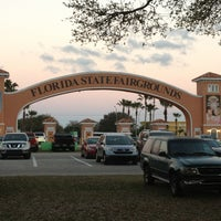 Photo taken at Florida State Fairgrounds by Megan S. on 2/16/2013