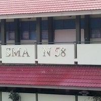 Photo taken at SMAN 58 Jakarta by Sandy on 12/16/2013
