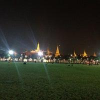 Photo taken at Sanam Luang by PHU P. on 1/1/2013