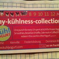 Photo taken at Kuhl Yogurt by Mark C. on 8/12/2013