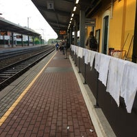 Photo taken at Stazione Mariano Comense by Laura T. on 10/14/2014