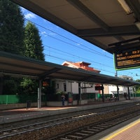 Photo taken at Stazione Mariano Comense by Laura T. on 7/9/2014