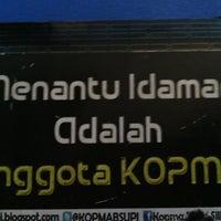 Photo taken at Kopma BS UPI by Rezza A. on 6/10/2013