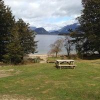 Photo taken at Moturau Hut by Geoff J. on 11/14/2012