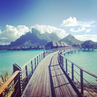 Photo taken at Otemanu View Over-water Bungalow by Scott D. on 5/17/2013