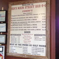 Photo taken at Sid's Main Street BBQ by Corey P. on 9/29/2012