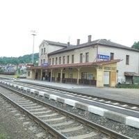 Photo taken at Železniční stanice Semily by Ireneusz Michał H. on 5/28/2016