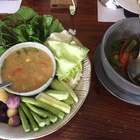 Photo taken at ร้านระเบียง (Rabiang Cafe and Restaurant) by TangMae P. on 5/25/2017