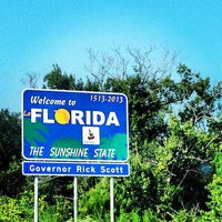 Photo taken at Florida / Georgia State Line by Joseph V. on 8/4/2013