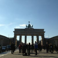 Photo taken at Pariser Platz by Mr. M. on 3/13/2013