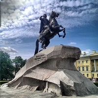 Photo taken at Bronze Horseman by Sergey K. on 6/13/2013